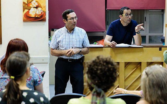 Encore! director Robert Binder and musical director Paul Salter in rehearsal (Photo: Brian Negin)