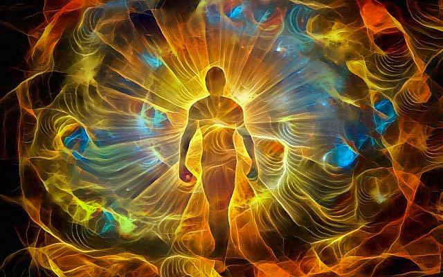 Spiritual painting in vivid colors. Inner Light. 3D rendering
