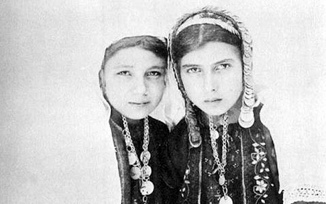 Bonfils portrait of Bethlehem girls. Public Domain, Wikimedia Commons