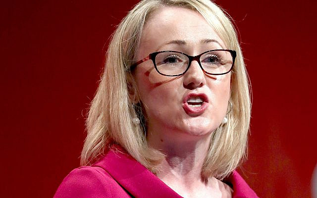 Rebecca Long-Bailey. (Photo credit: Gareth Fuller/PA Wire - Jewish News )