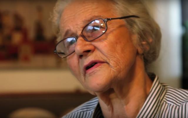 Screenshot from YouTube video of he Testimony by Halina Strnad (Nee Wagowska)