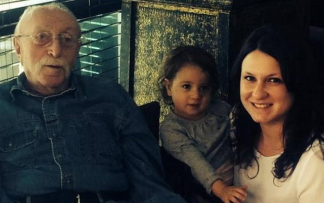 Myself, daughter and late cousin Isaac Klein (z'l) identical twin and survivor of Dr. Mengele. (courtesy)