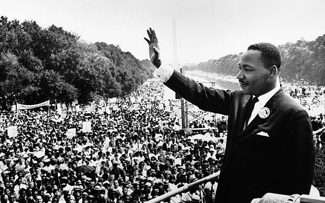 Dr. Martin Luther King Jr. at the March on Washington in 1963.