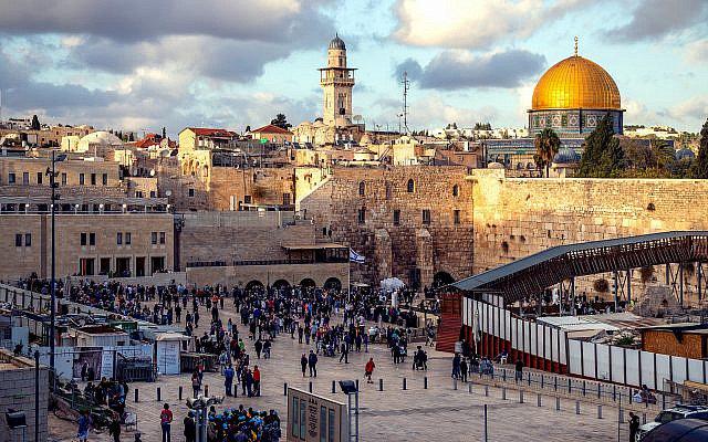 Jerusalem's Western Wall and Dome of the Rock (Photo by Sander Crombach on Unsplash via Jewish News)