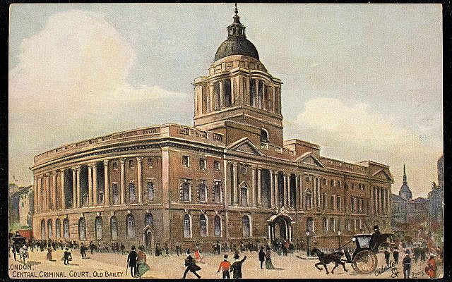 London, Central Criminal Court, Old Bailey. (Public Domain/ Wikimedia Commons)