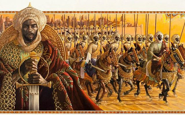 Artists depiction of Mansa Musa and his entourage. (CC BY-SA, HistoryNmoor/ Wikimedia Commons)