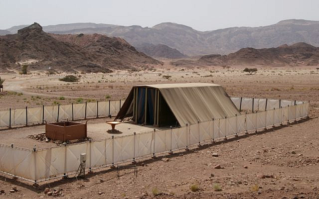 Model of the Tabernacle, as seen in Israel, Timna Park. (Ruk7, Wikipedia)