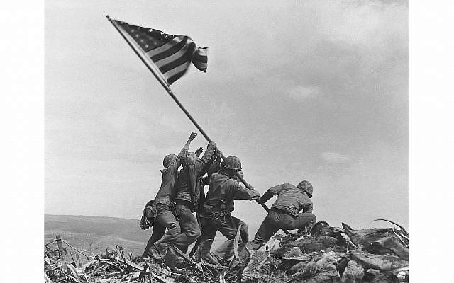 """Raising the Flag"" on Iwo Jima by Joe Rosenthal, Public Domain"