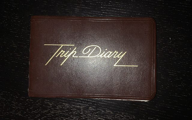 My mother's Israel 'trip diary.' (courtesy)