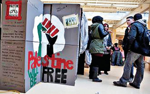 Example of Israel Apartheid Week on a UK campus (Jewish News)