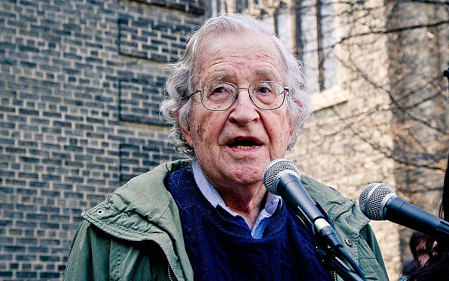 Noam Chomsky   (Wikipedia/AuthorAndrew Rusk from Toronto, Canada/ Attribution 2.0 Generic (CC BY 2.0) https://creativecommons.org/licenses/by/2.0/legalcode )
