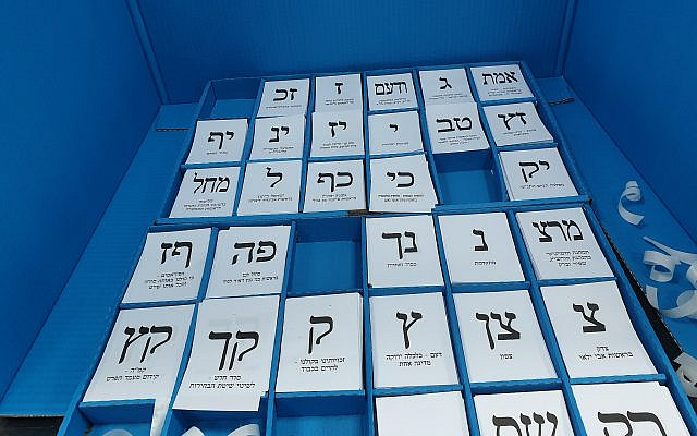 Ballots during the September 2019 Knesset Election (Source: Wikimedia Commons)