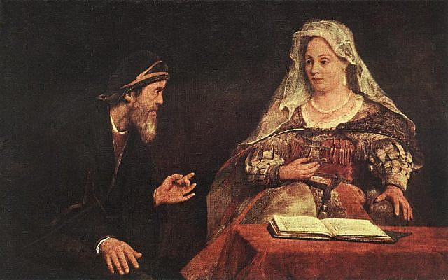 'Ester y Mardoqueo escribiendo la primera carta del Purim,' Aert de Gelder, 1645. (Wikipedia)