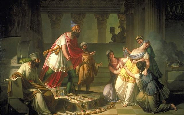 'Esther before Ahasuerus,' by Franc Kavčič. (Wikipedia)