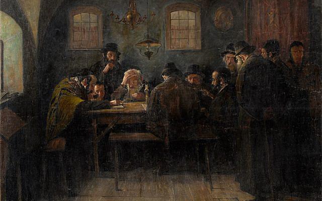 Juden beim Talmudstudium Paris. (Wikimedia Commons)