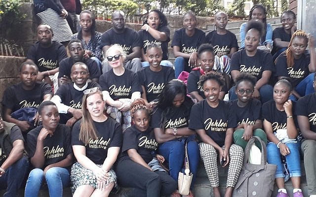 Teaming up with Kenyan church youth of Jalal Project in Nairobi. Photo: Shalom Koronge. Used with permission.