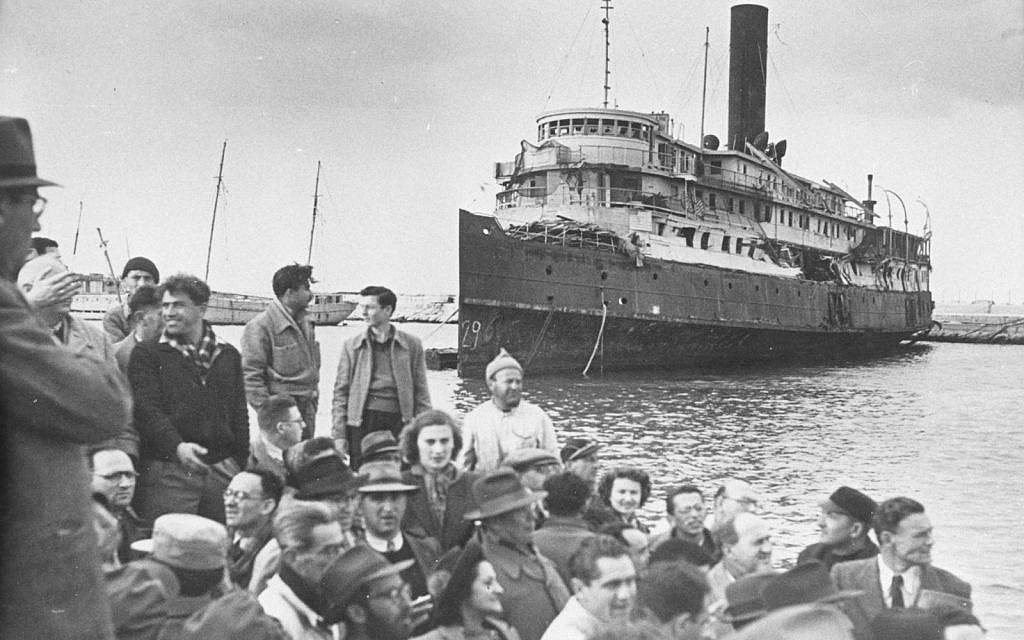 The illegal immigration ship Exodus 1947 (The Palmach Photo Gallery)