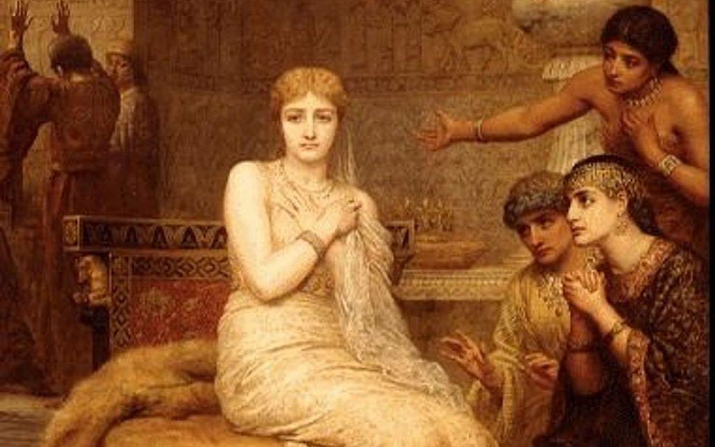 Vashti Refuses the King's Summons, painting by Edwin Long, 1879 (PD via Wikipedia)