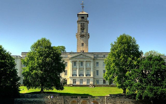 University of Nottingham's Trent Building (Wikipedia/Author	Barry Mangham/ (CC BY-SA 3.0)  https://creativecommons.org/licenses/by-sa/3.0/legalcode)