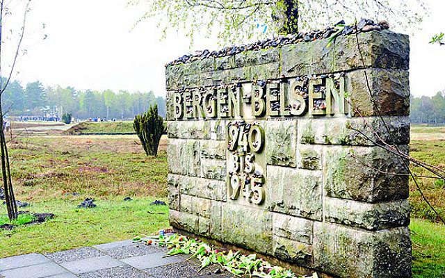A monument at Bergen Belsen (Jewish News)