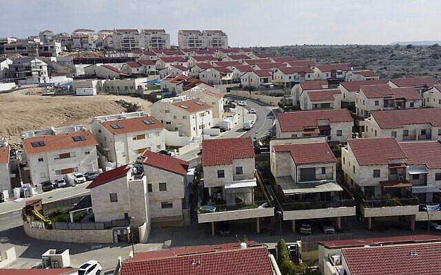 A view of the Jewish West Bank settlement of Ari'el, Tuesday, Jan. 28, 2020. U.S. President Donald Trump is set to unveil his administration's much-anticipated Mideast peace plan in the latest American venture to resolve the Israeli-Palestinian conflict. (AP Photo/Ariel Schalit)