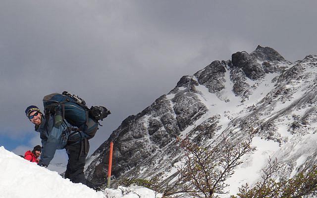 Climbing up to John Gardner Pass.