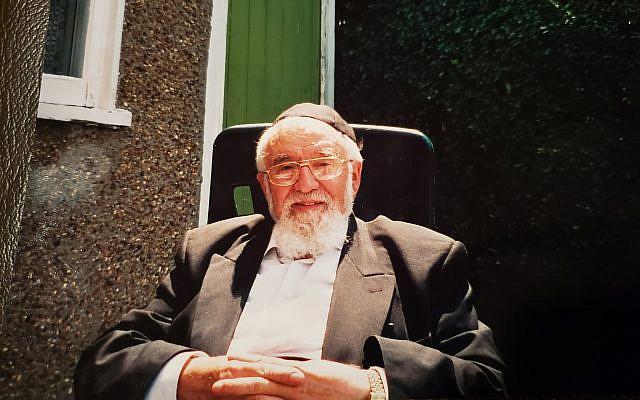 Rabbi Wilschanski during my visit in June, 2001.