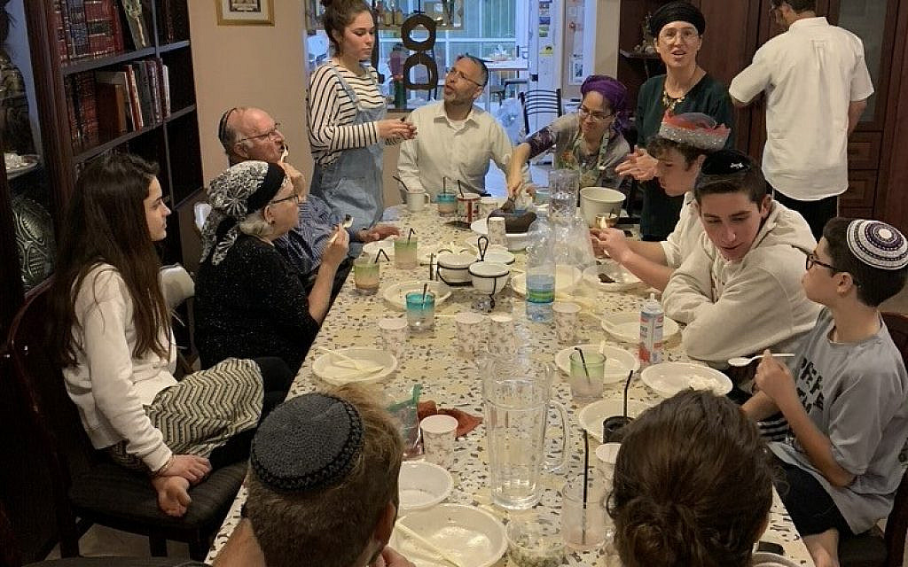 Preparing for our family seder, in a year when several generations could be present. (courtesy)