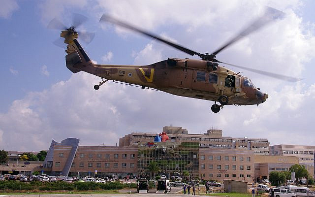 Sheba Medical Center Helipad. (image provided by Sheba Medical Center, Tel HaShomer)