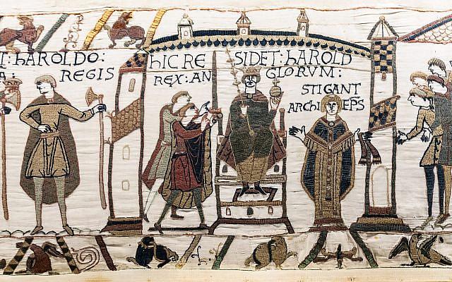 Bayeux Tapestry - Coronation of Harold Godwinson. (Public Domain/ WIkimedia Commons)
