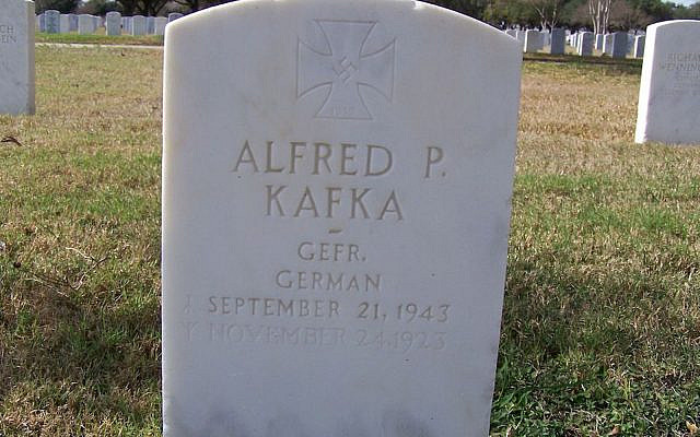 One of the graves at the Fort Sam Houston National Cemetery that bears a swastika. (Michael Field/Wikimedia Commons)