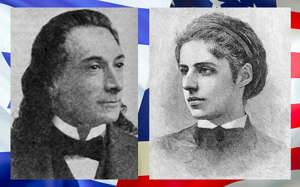 Naftali Herz Imber (1806-1909), who wrote the lyrics to Hatikva, L, and Emma Lazarus (1849-1887), author of The New Colossus.