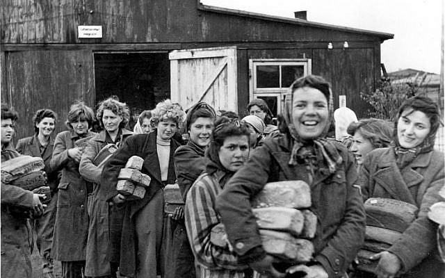 Survivors at the liberation of Bergen-Belsen in Germany. (Source: Yad Vashem)