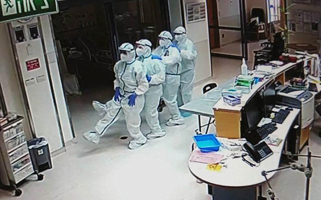 Medical staff dance in Keter Alef. (Galia Wollman)