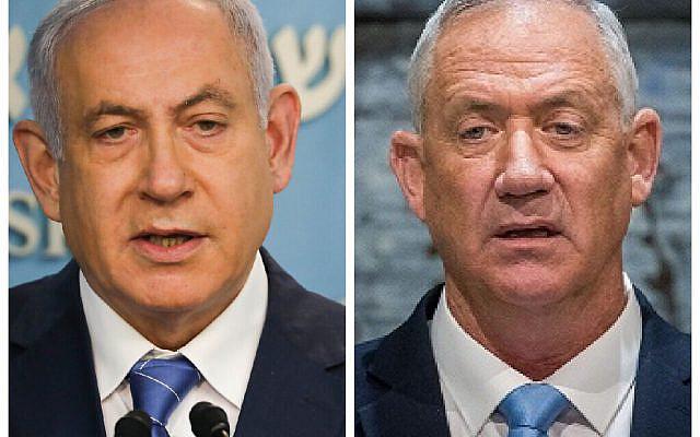 Benjamin Netanyahu and Benny Gantz (Jewish News)