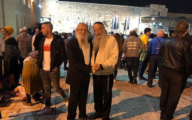 To my left, Rabbi Yosef Mendelevich