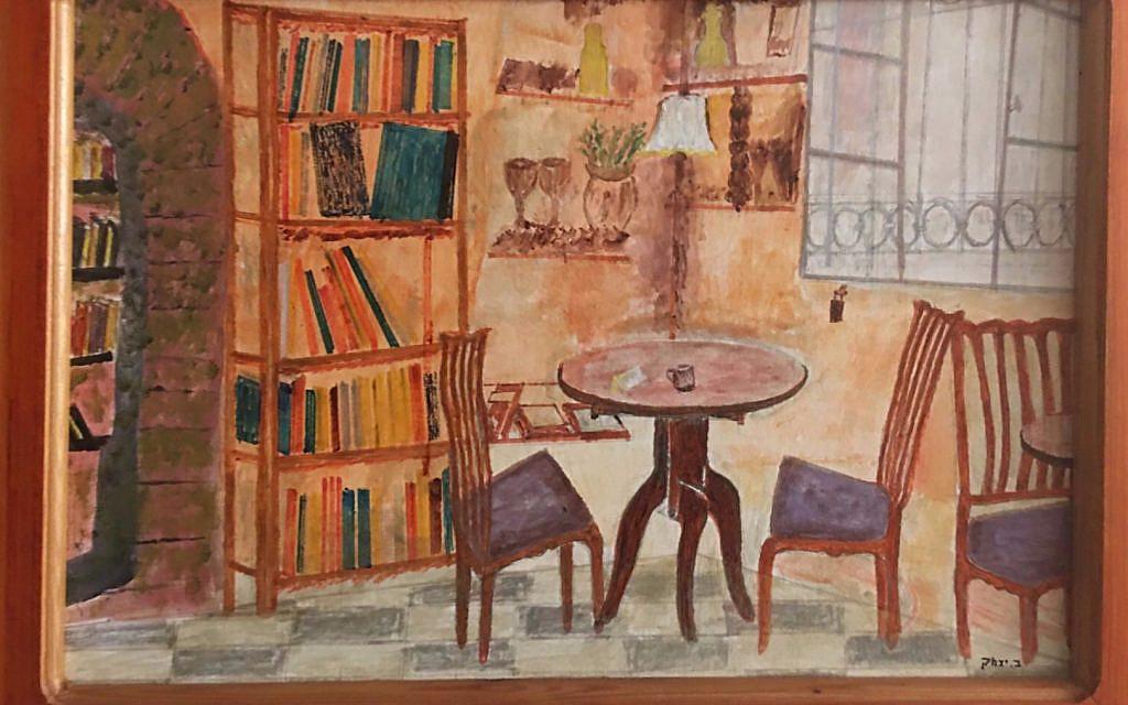 Drawing of Tmol Shilshom by Isaac Segev (Bouskila) courtesy of Rabbi Daniel Bouskila