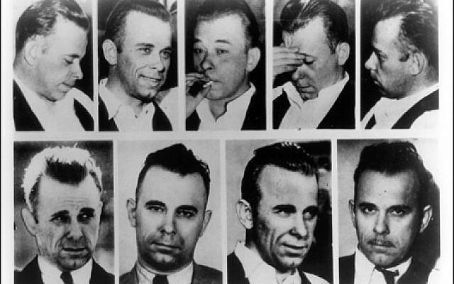Many different faces of John Dillinger. (Public Domain/ FBI files/ Wikimedia Commons)