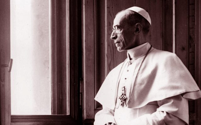 Pope Pius XII, born Eugenio Maria Giuseppe Giovanni Pacelli, reigned from March 1939 until his death in 1958. (Courtesy of PerlePress Productions))