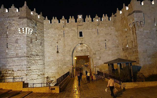 Damascus Gate at midnight