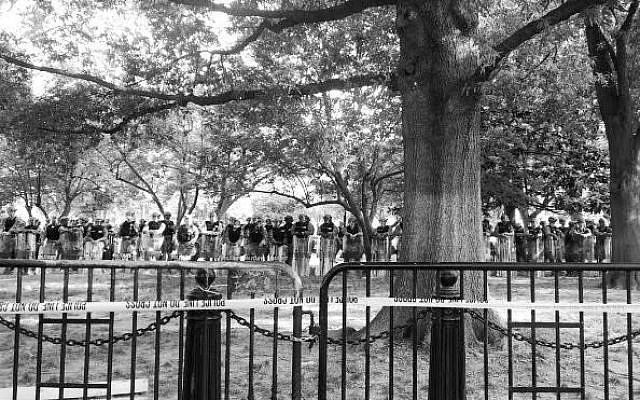 All types of law enforcement continue to patrol outside the White House. (Photo by Jared Feldschreiber)