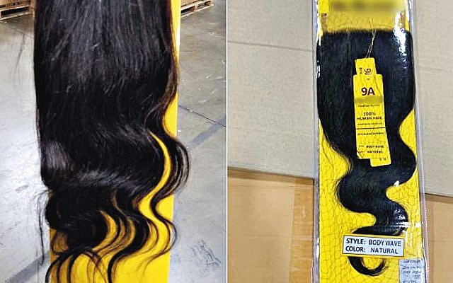 Human hair seized by US customs reportedly taken from Uyghur Muslims in China. (Jewish News)