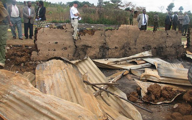 Church remains in Kenya (2007) where innocents perished after it was torched during the civil unrest.  Credit: Shahar Azani