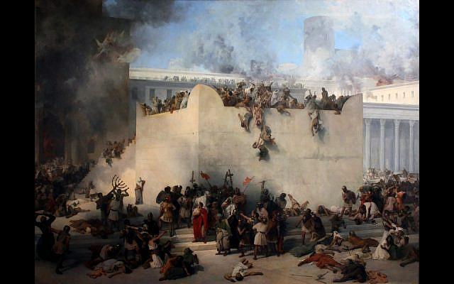 'Distruzione del tempio di Gerusalemme' by Francesco Hayez (PD-US-expired via Wikipedia)