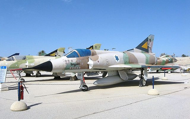 Illustrative. Israeli Air Force Mirage IIICJ 158 at the Israeli Air Force Museum in Hatzerim, bearing 13 kills markings and the colors of 101 Squadron, January 29, 2010. (Oren Rozen/Wikipedia)