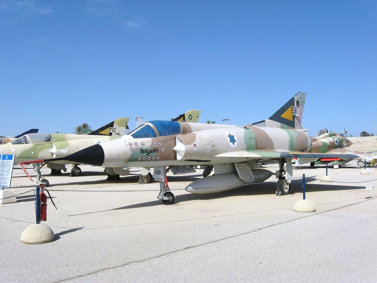 Israeli Air Force Mirage IIICJ 158 at the Israeli Air Force Museum in Hatzerim