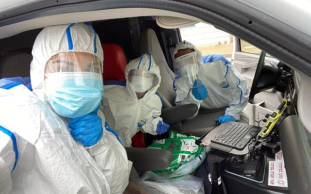 National Civil Service volunteers helping out during the coronavirus crisis. (Courtesy)