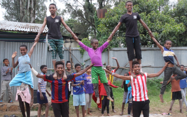 'Children of God' circus practices, smiles and all. (Gal Zeira)