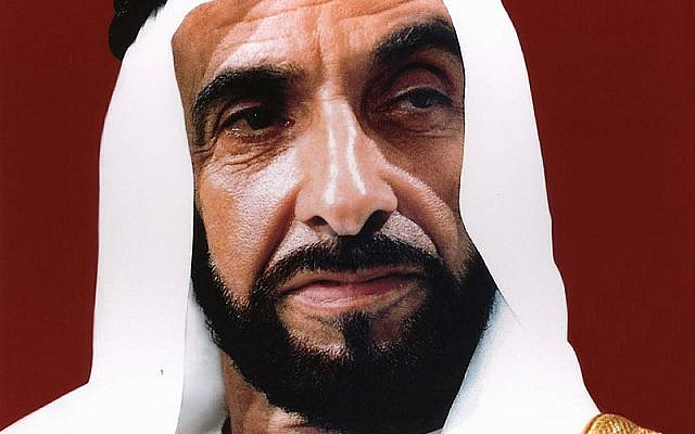 Official portrait of Zayed bin Sultan Al Nahyan, the founding father and the principal driving force behind the formation of the United Arab Emirates. (Wikipedia)