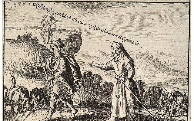 Abraham and Lot separate, etching by Wenceslaus Hollar, 17th century, Thomas Fisher Rare Book Library, Toronto. (public domain, Wikipedia)